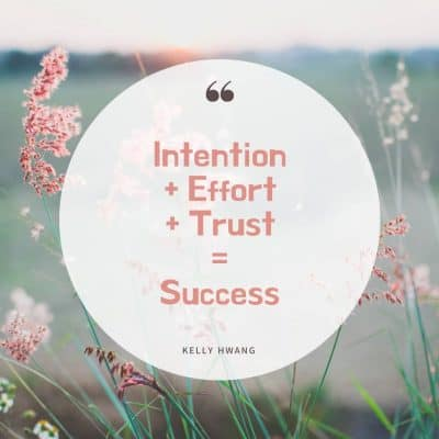 Realize Your True Potential:  Intention + Effort + Trust = Success